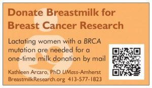 Refrigerator magnet recruiting BRCA positive lactating women project.